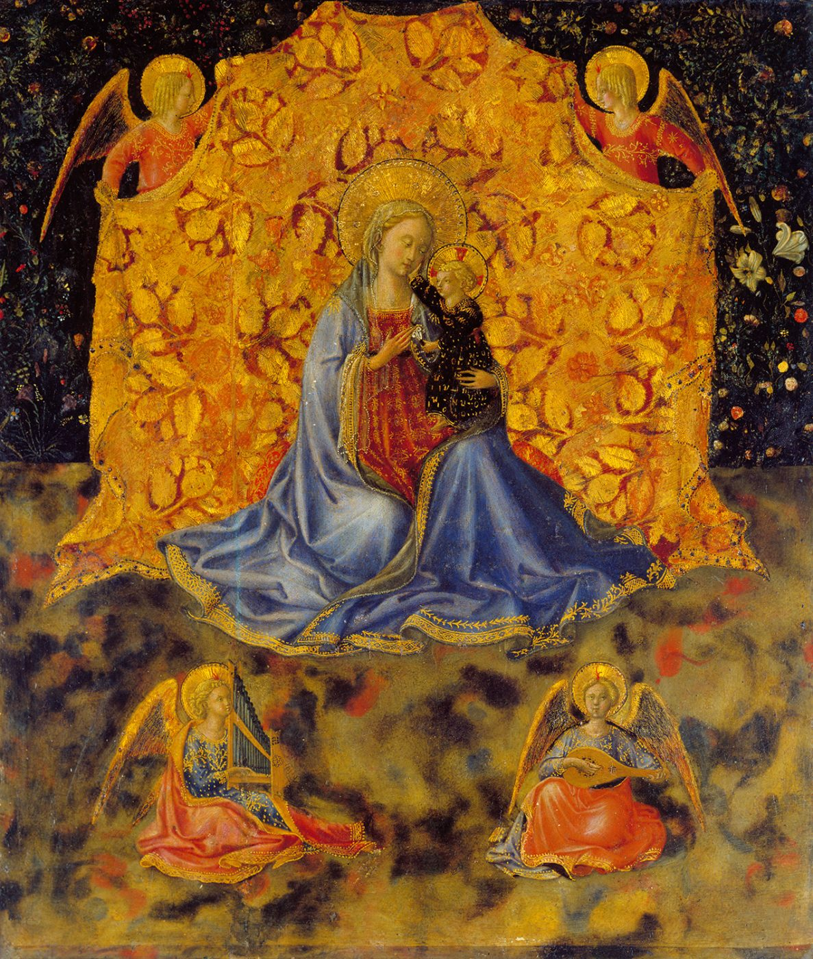 Benozzo Gozzoli, The Madonna and Child with Angels, c. 1449-50 (Fondazione Accademia Carrara, Bergamo)
