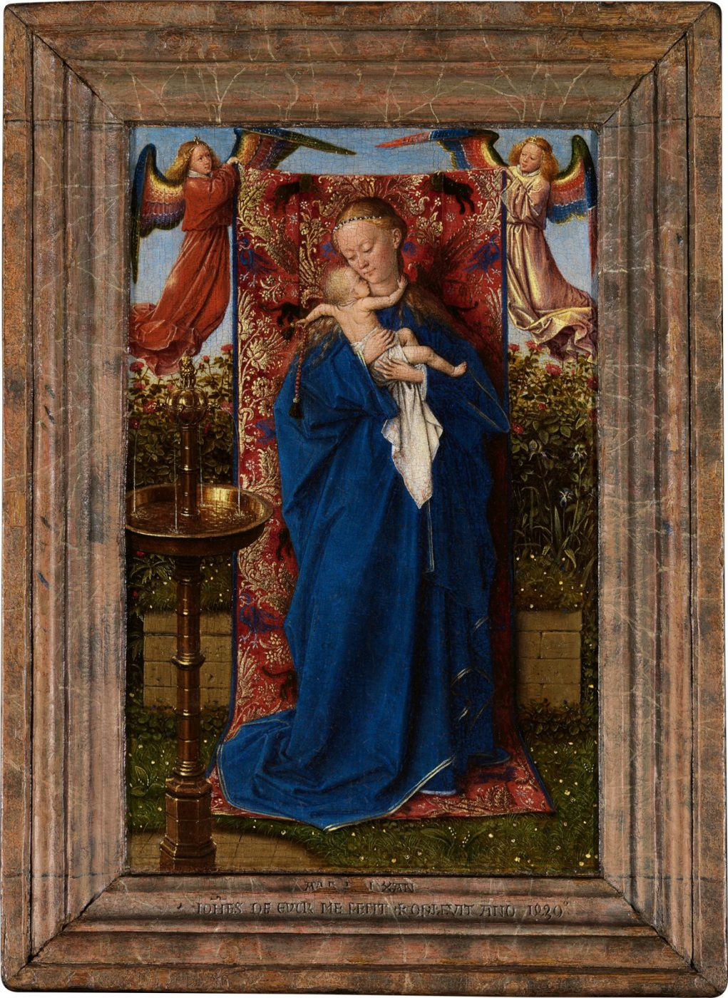 Jan van Eyck, The Madonna at the Fountain, 1439 (Royal Museum of Fine Arts, Antwerp © www.lukasweb.be - Art in Flanders vzw. Photo Hugo Maertens)