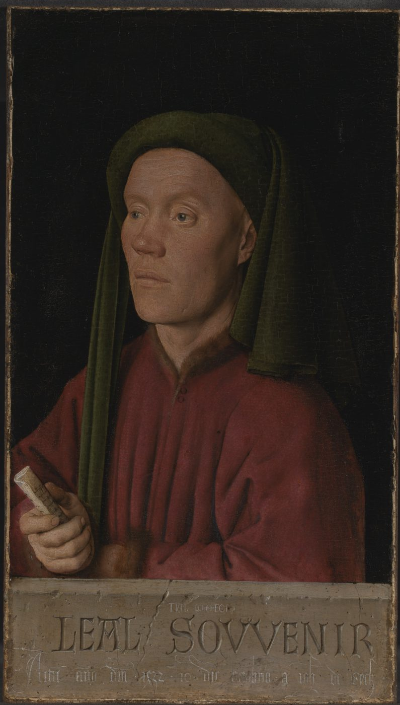 Jan van Eyck, Portret van een man (Léal souvenir of Tymotheos), 1432
